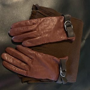Michael Kors Accessories - MICHAEL KORS LEATHER GLOVES with free scarf